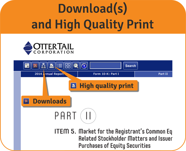 Download, High Quality Print Features