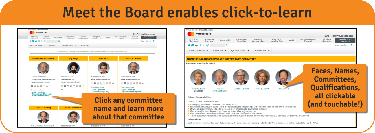 Meet the Board enables click-to-learn!