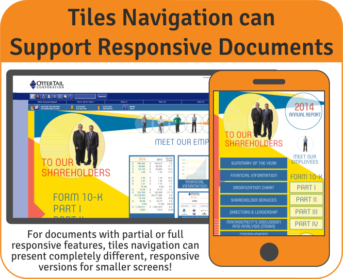 Tiles Navigation can Support Responsive Documents